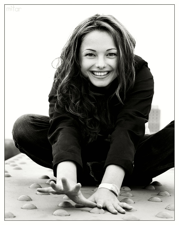 Natalie's Smile | woman, black and white, nature, emotion, curls
