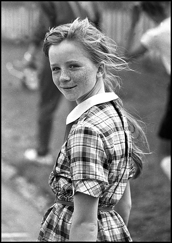 Spring girl | black and white, nature, child, freckles