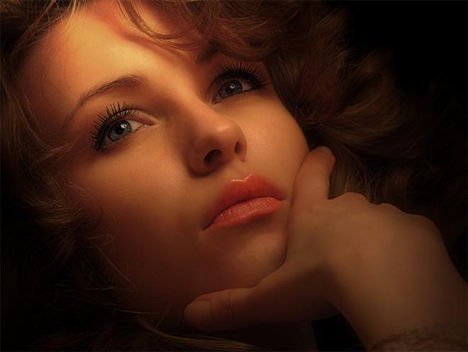 Anyuta's eyes | woman, hand, emotion, curls