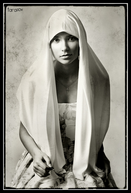 Pin | woman, black and white, scarf