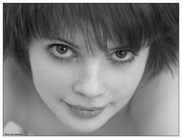 A bit closer | black and white, woman