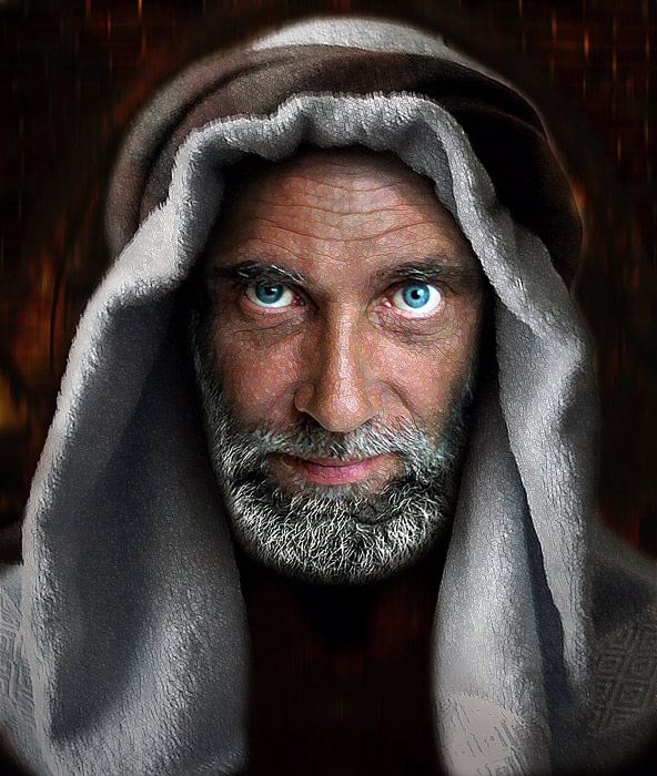 Blue-eyed | male, scarf