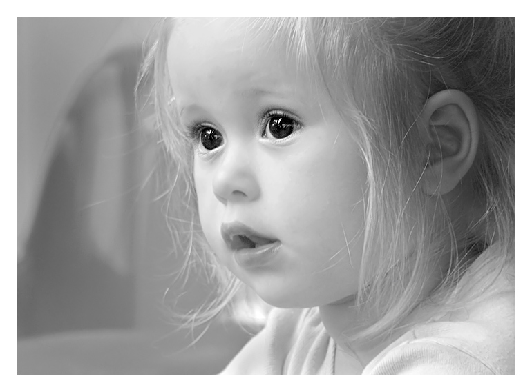 Eyes of a child | emotion, blonde, black and white, child
