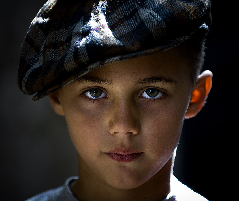 Son | child, hat, backlight