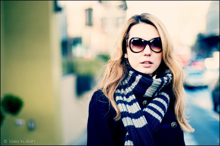 Katya   woman, nature, blonde, glasses
