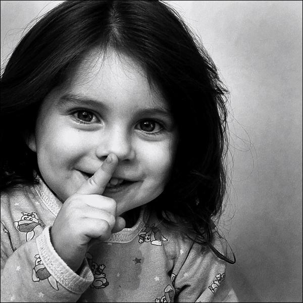 shhh kid portrait photos
