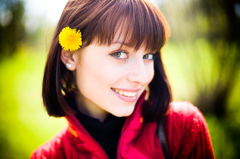 Dandelion | woman, nature, flower