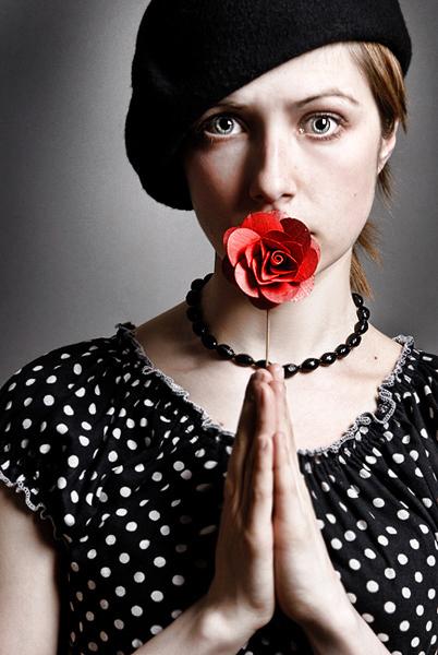 Kate the telegrapher | woman, flower, hat
