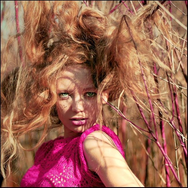 Dasha | nature, woman, curls, freckles, redhead