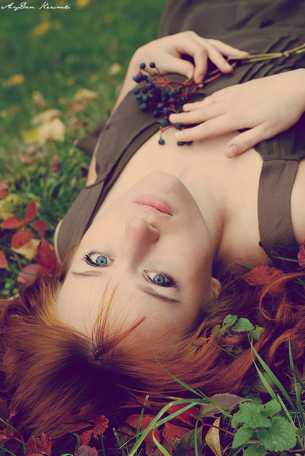 Berries | woman, nature, redhead