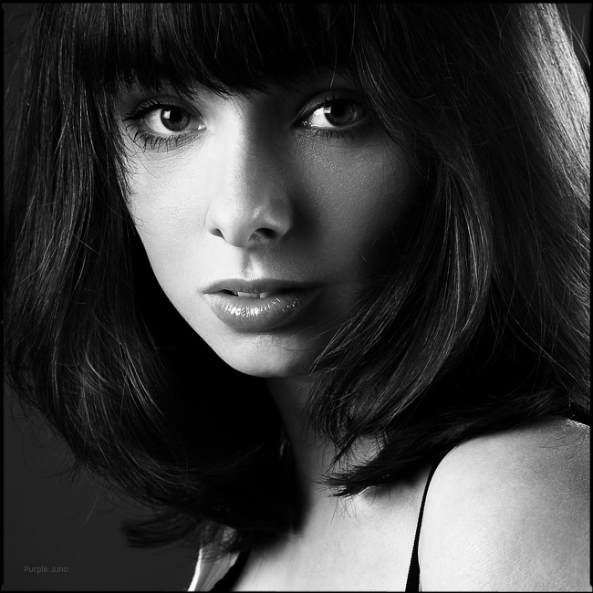 Tonya   black and white, woman, brunette