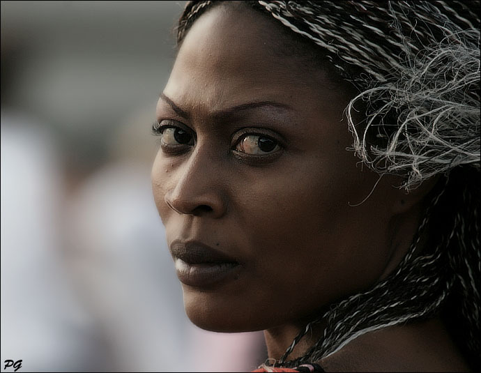 The stare of a stranger | nature, woman, braids