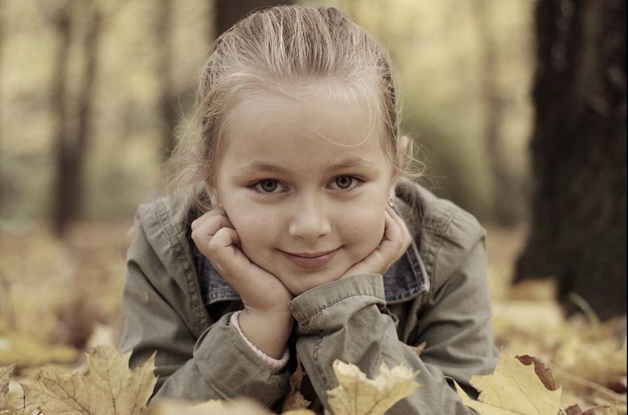 Angelina   blonde, child, nature