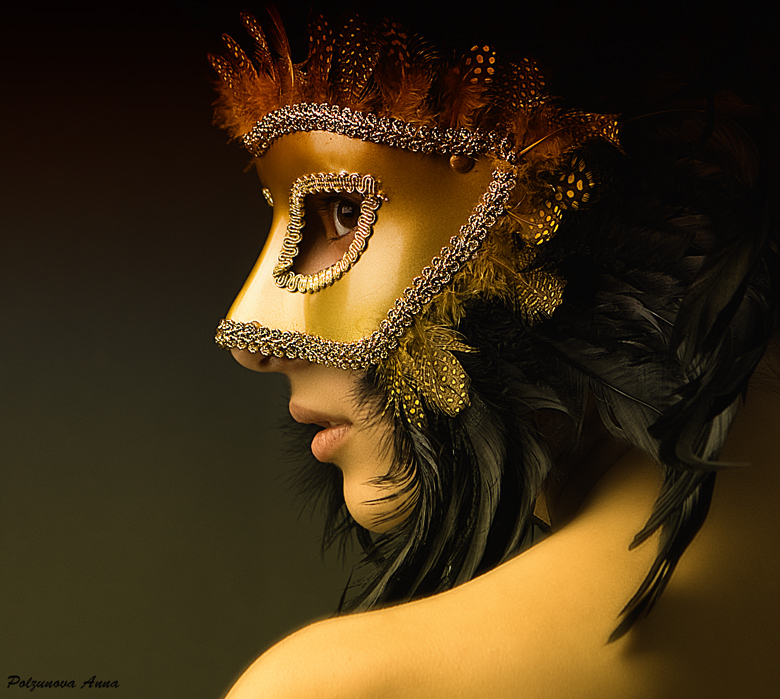Mask | feathers, mask, woman