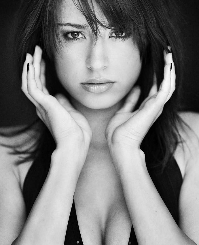 Marta | woman, black and white, hand