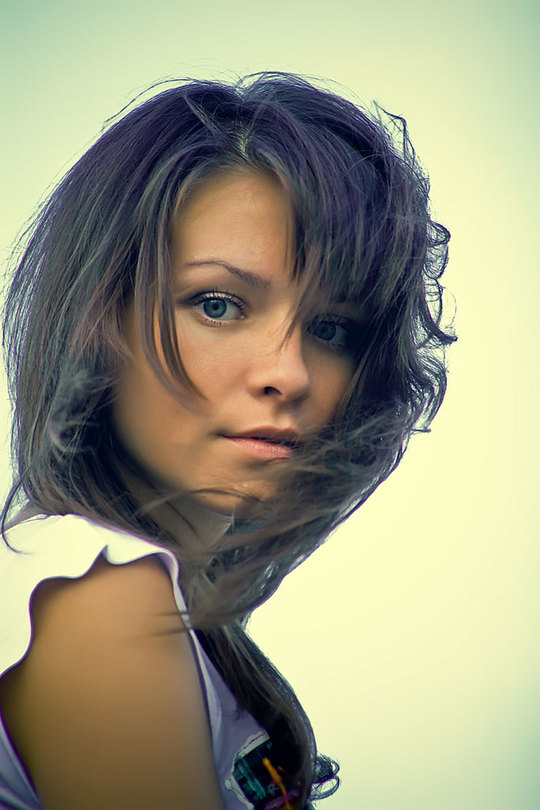 Summer breeze | woman, brunette, hair