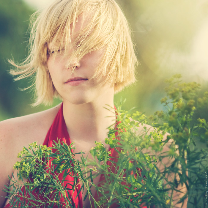 frijasswa  | closed eyes, light, blonde, nature