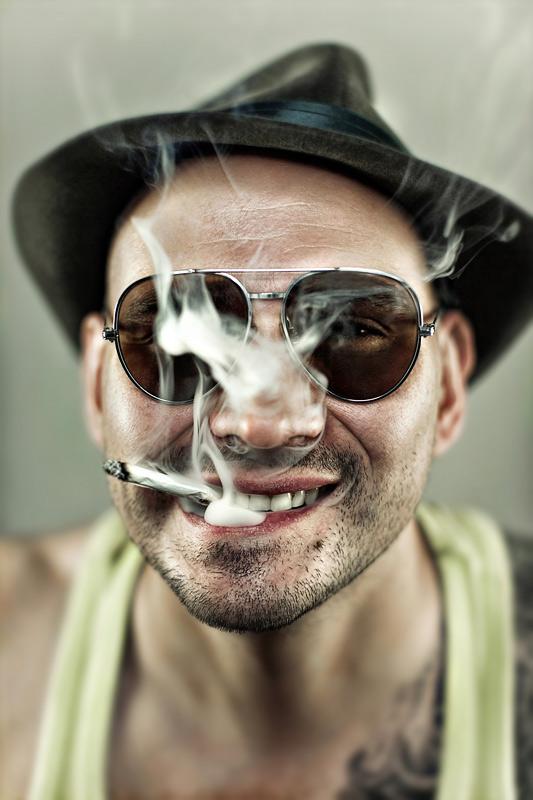 Buddy | male, glasses, cigarette, hat