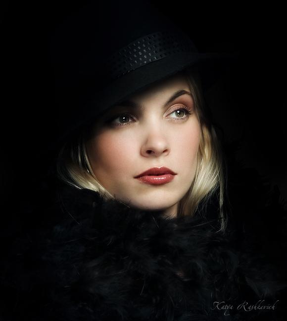 Retro | blonde, scarf, hat