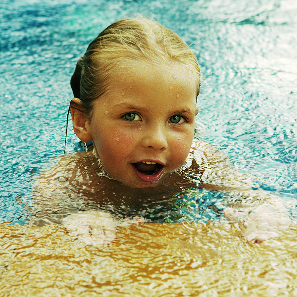 The joy of the first swim | nature, child, water