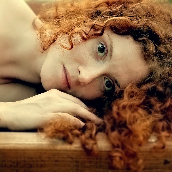 Portrait of a red-headed girl | close-up, curls, redhead