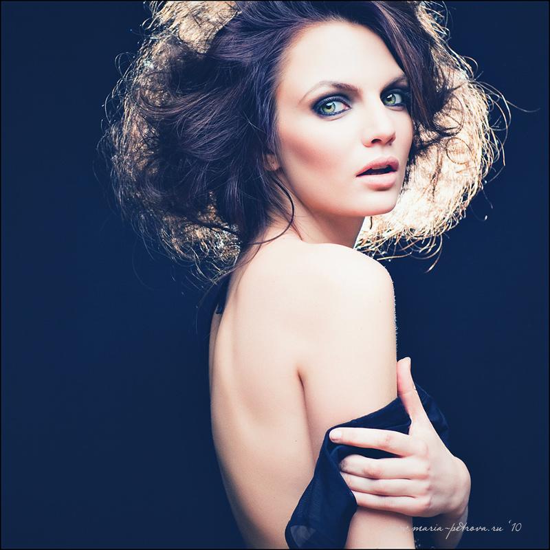 Black cloud   brunette, shoulder, half-turn, emotion