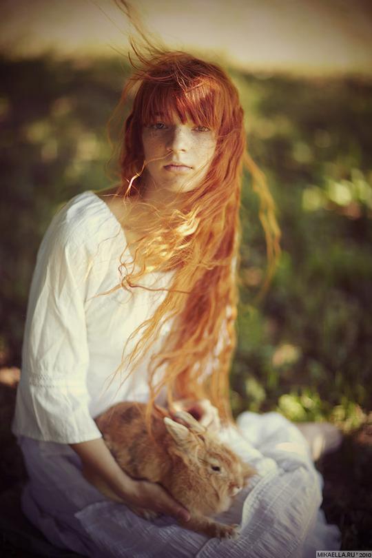 Yara and Martha | long hair, curls, nature, redhead