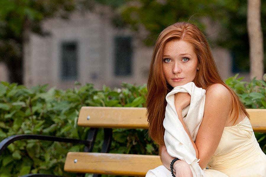 Olga | freckles, nature, redhead