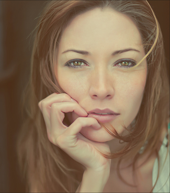 Green eyes   close-up, rendering