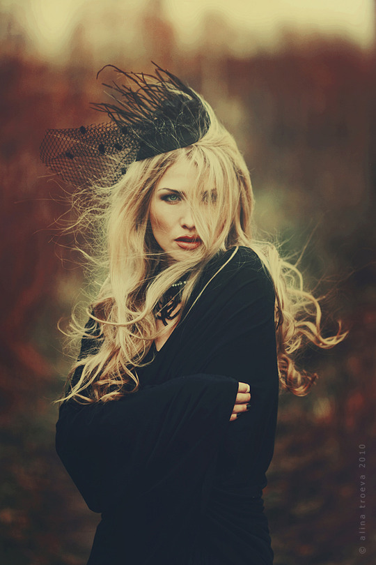 The black queen | blonde, veil, nature, rendering