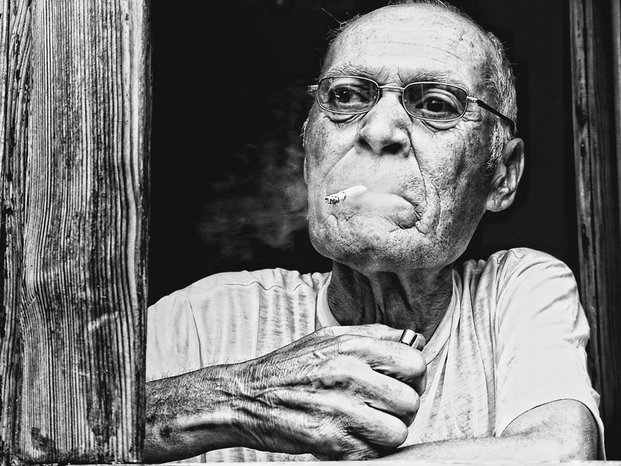 Second of thought | male, cigarette, black and white