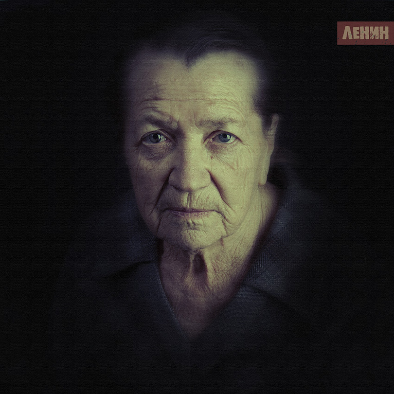 Grandmother | close-up, low key, rendering