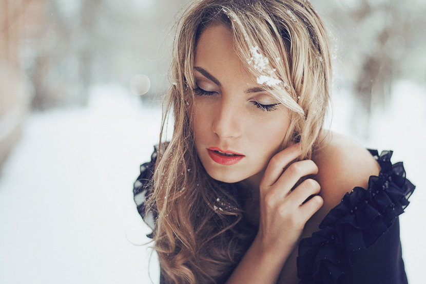 Frozen | blonde, nature, snow