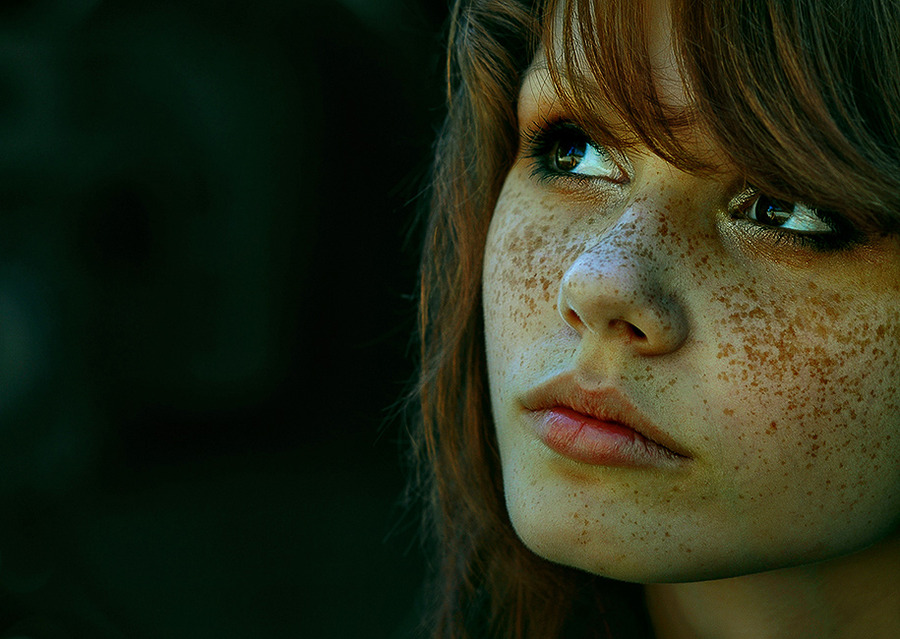 Freckled beauty  | freckles, woman, close-up, redhead