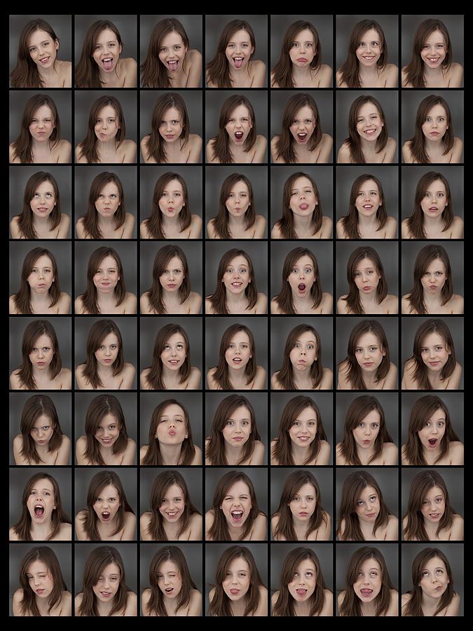 Emotions   brunette, emotion