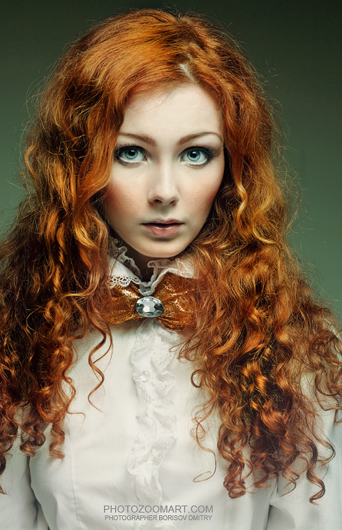 Girl with Curly Red Hair Doll