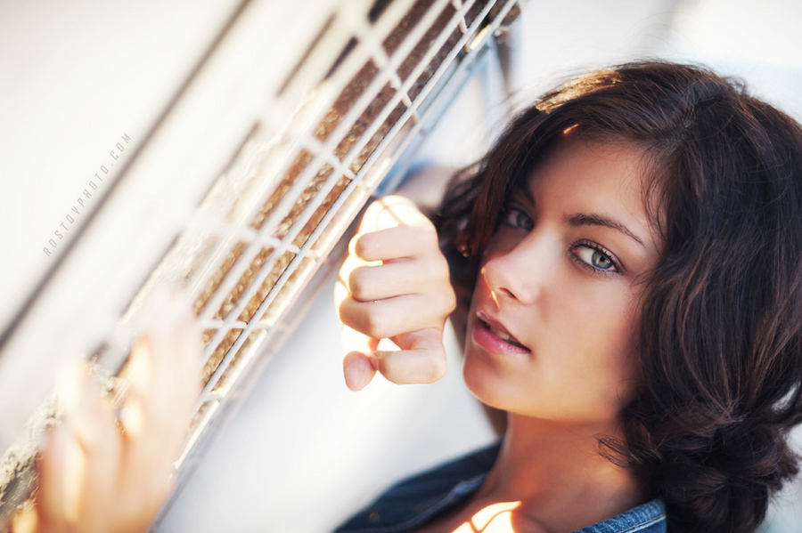 Beautiful girl | brunette, stare, woman, hairstyle