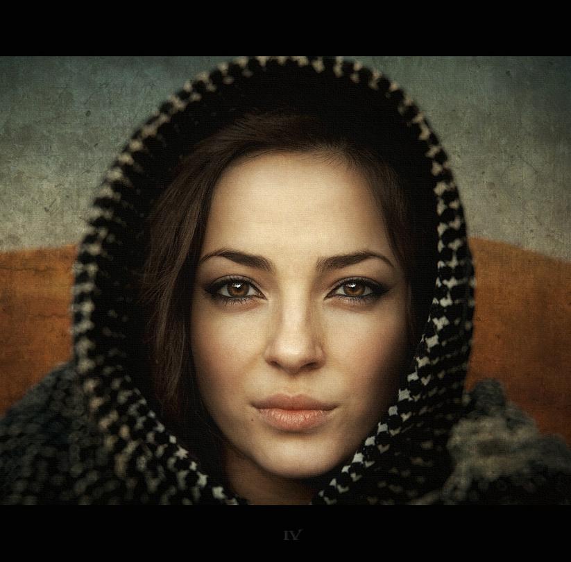 Oriental tale | woman, hood, low key