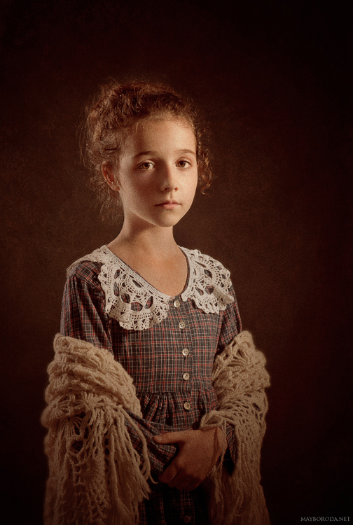 Cosette  | curls, low key, child, sepia