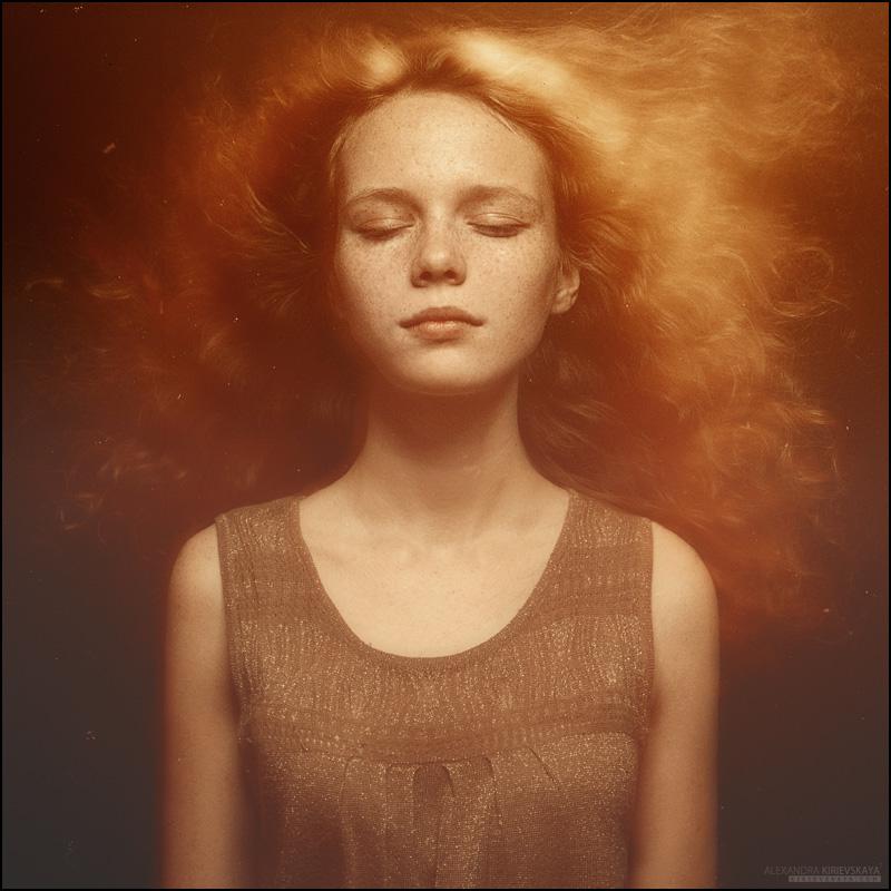 Girl-sun | freckles, long hair, saturation, redhead