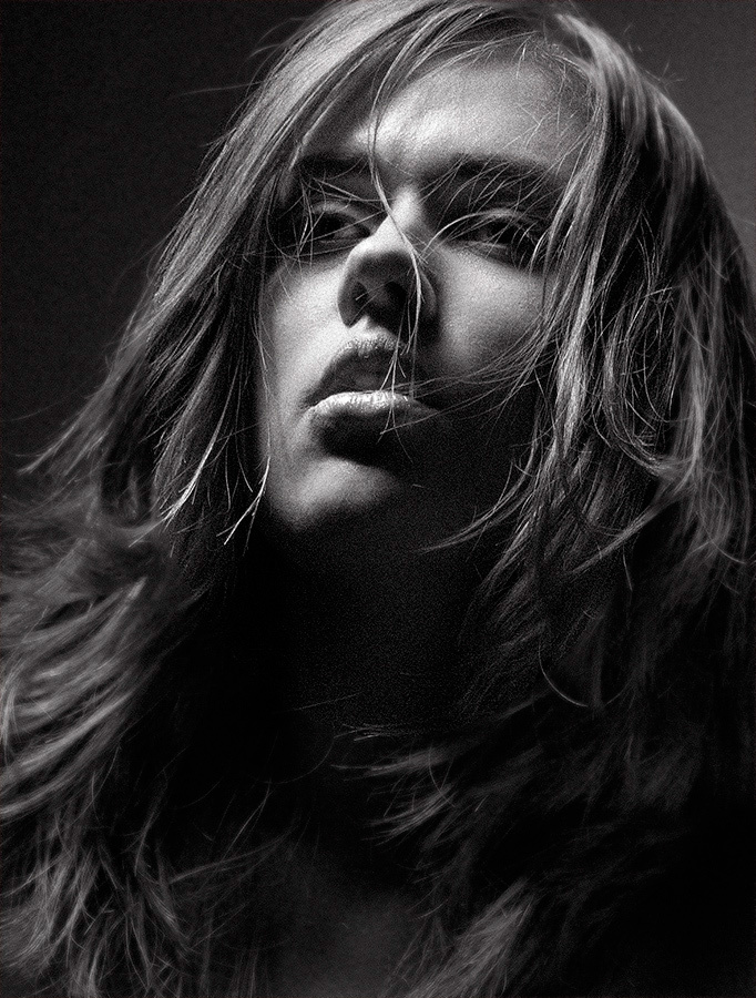 Olga | black and white, passion, dark photo, long hair