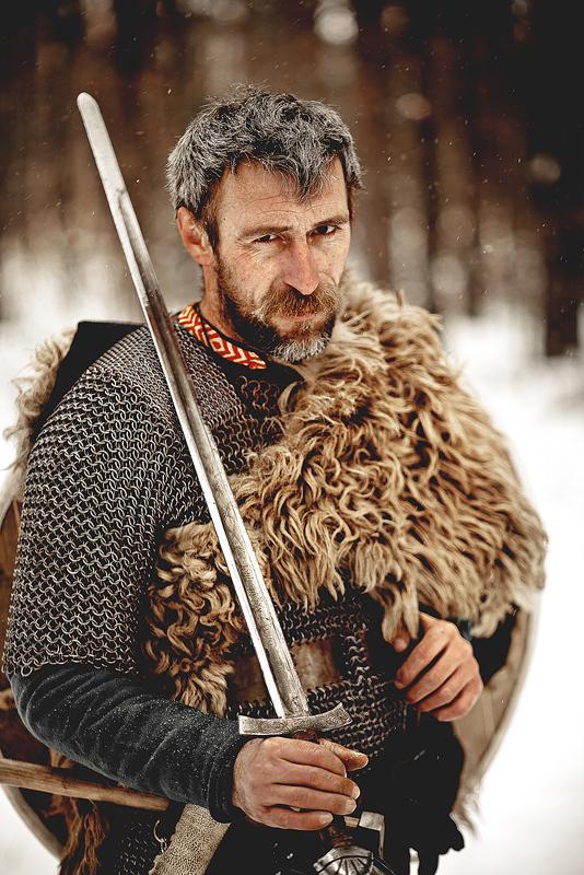 Man with the sword | sword, man, hunter, armour