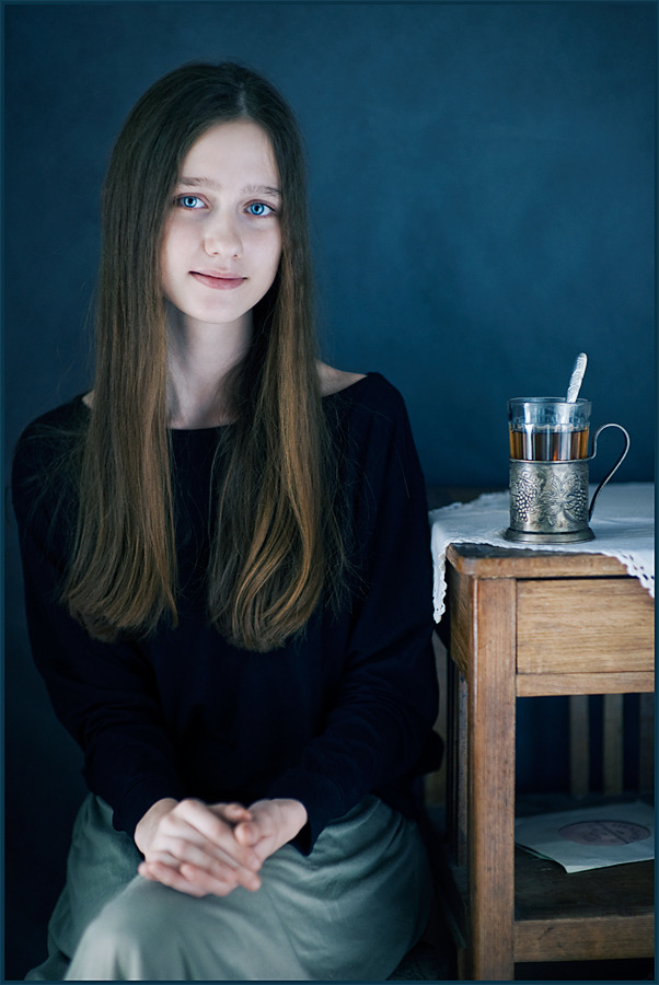 Girl with tea | daughter, teenager, table, tea