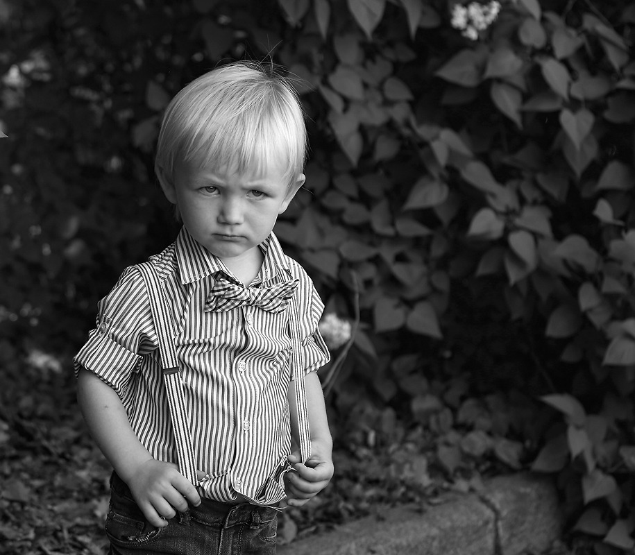 Angry boy   boy, child, black & white, tree