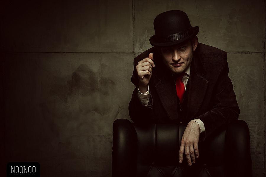 Man in top hat | top hat, man, shadow, darkness