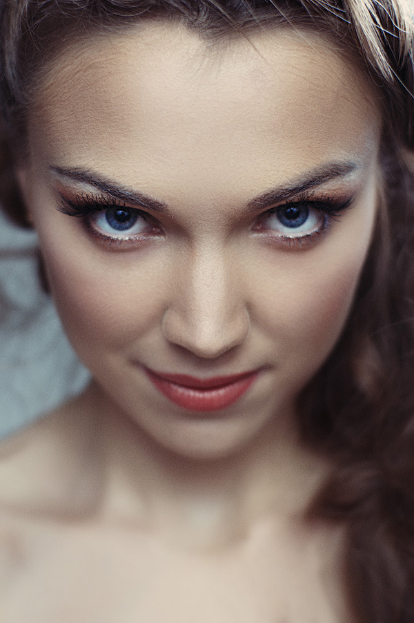Cute girl close up   cute girl, close up, face, blue eyes