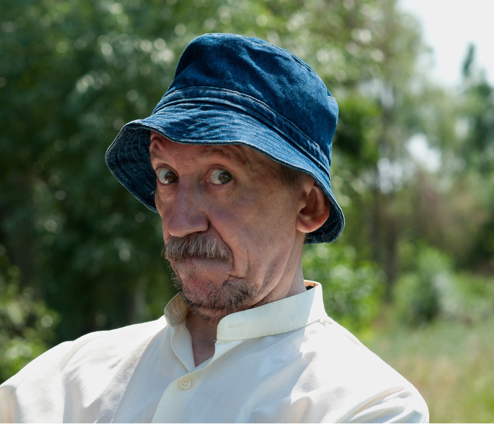 Man in hat | blue hat, old man, summer, villiage