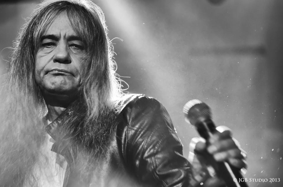 Black & white photo of a rocker | portrait, man, long hair , black & white, rocker, microphone, scene, concert, face, photoshoot