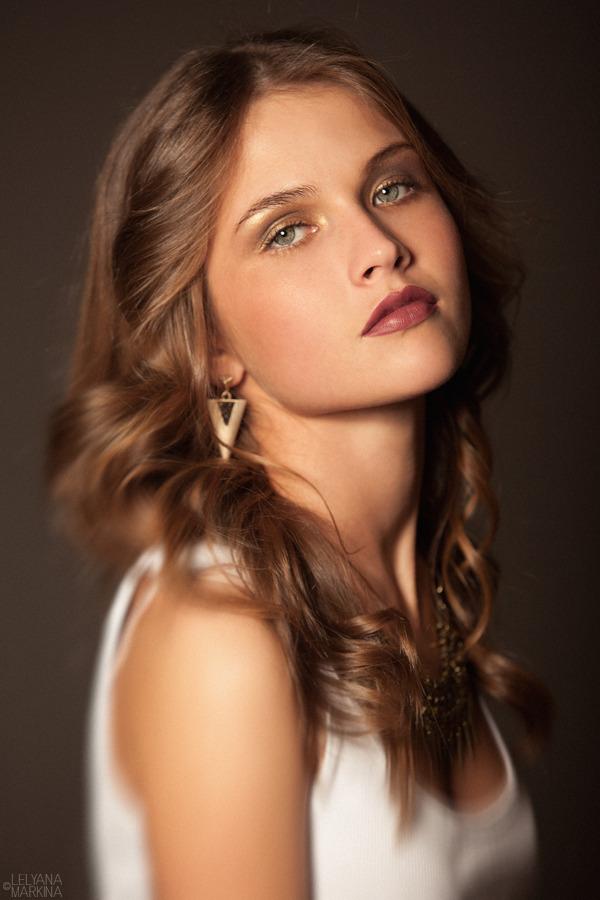 portrait, model, girl, cutie, long-haired, make-up , bijouterie, curls, half-turn, pouty lips