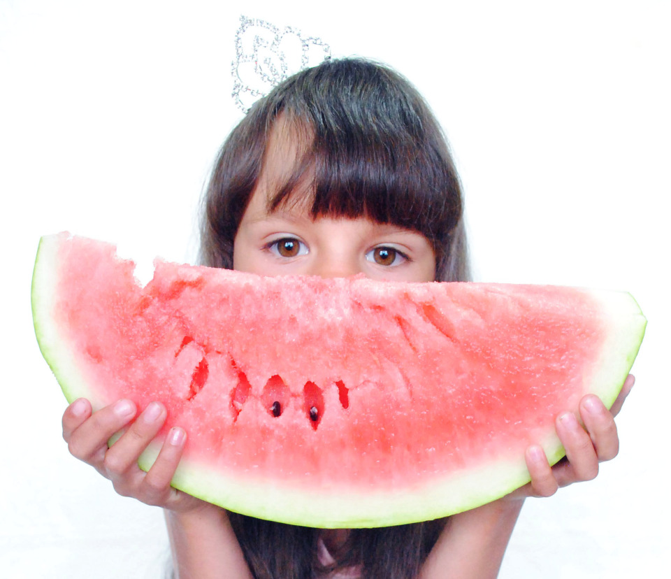 Water melon | water melon, child, girl, fruit